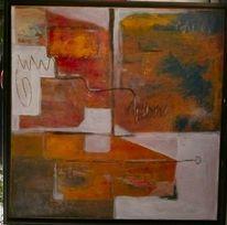 Malerei modern, Leben, Orange, Erfahrung