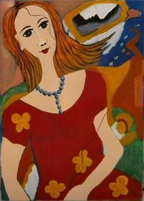 Ölmalerei, Abstrakt, Frau, Malerei modern