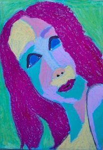 Skizze, Pastellmalerei, Mädchen, Zeichnungen