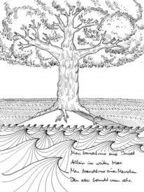 Gedicht, Baum, Schwarz, Weiß