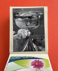 Blumen, Kelch, Mischtechnik,