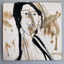 Monika, Portrait, Malerei,