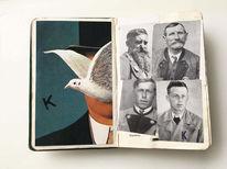 Buch, Portrait, Mischtechnik,