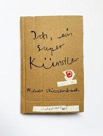 Skizzenbuch, Art löchle, Mischtechnik,