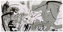 Zeichnung, Skizze, Mischtechnik,