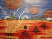 Acrylmalerei, Malerei acryl, Malerei, Planet