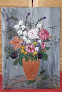 Weiß, Blätter, Blumenstrauß, Sommerblumen