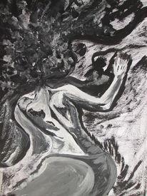 Figur, Malerei, Modern art, Frau