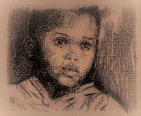 Junge, Portrait, Skizze, Zeichnungen