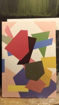 Farben, Malerei modern, Weiß, Pinsel