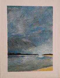 Meer, Malerei, Sturm