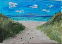Strand, Meer, Nordsee, Malerei