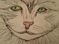 Erstlingswerk, Katze, Zeichnung, Zeichnungen