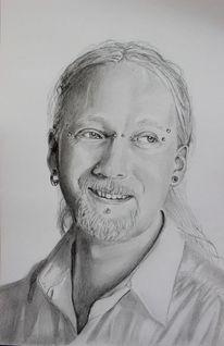 Bleistiftzeichnung, Portrait, Junger mann, Zeichnungen