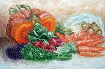 Gemüse, Studie, Stillleben, Malerei