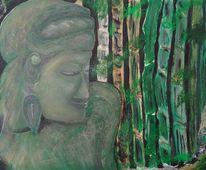 Acryl acrylmalerei, Malerei acryl, Malerei, Buddha