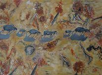 Acrylmalerei, Malerei, Wanderung,