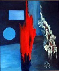 Farben, Blau, Ölmalerei, Abstrakt