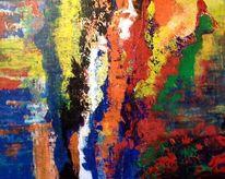 Harmonie, Acrylmalerei, Kontrast, Spachtel