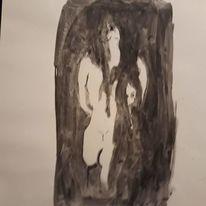 Abstrakt, Schwarz, Menschen, Malerei