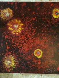Modern art, Farben, Blumen, Malerei
