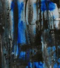 Blau, Schwarz, Malerei, Abstrakt