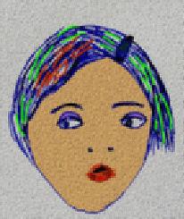 Mädchen, Bunt, Spange, Digitale kunst
