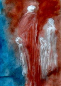 Rot, Fremde, Menschen, Malerei