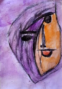 Gesicht, Lila, Menschen, Malerei