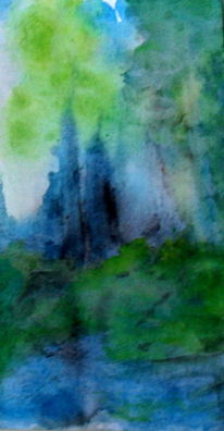 Natur, Blau, Grün, Malerei