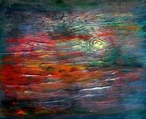 Bunt, Himmel, Abend, Malerei