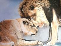 Löwe, Zuneigung, Mähne, Paar