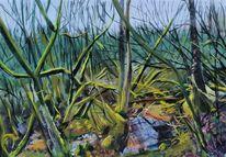 Pastellmalerei, Pleinair, Impressionismus, Moor