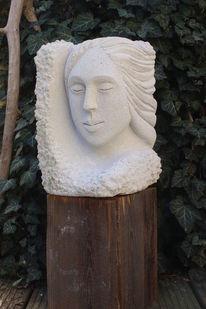 Gartenskulptur, Frau, Weiblichkeit, Garten