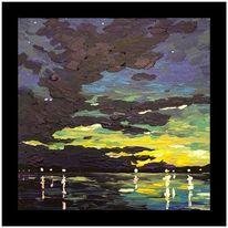 Farben, Ölmalerei, Acrylmalerei, Meer