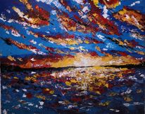 Ölmalerei, Meer, Malerei, Boot