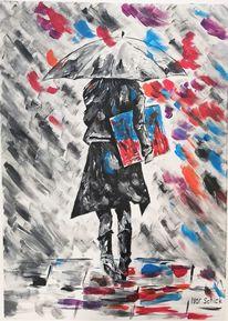 Acrylmalerei, Frau, Malerei, Farben