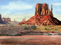 Felsformation, Schutt, Monument valley, Sonne