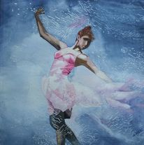 Tanz, Aquarellmalerei, Frau, Kleid