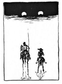 Sancho panza, Augen, Eis, Don quijote