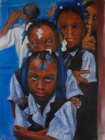 Portrait, Mädchen, Haiti, Schule