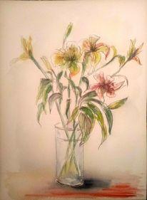 Tuschezeichnung, Aquarellmalerei, Tuschmalerei, Pflanzen