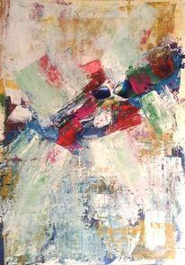 Acrylmalerei, Moderne kunst, Grün, Blau