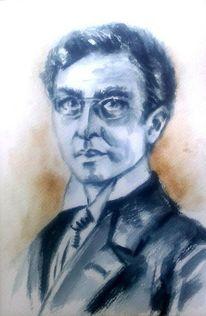 Schwarz, Porträtmalerei, Portrait, Weiß