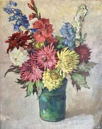 Naila, Ölmalerei, Blumen, Pinnwand
