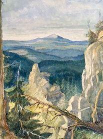 Landschaft, Kunstsammler, Museum, Pinnwand