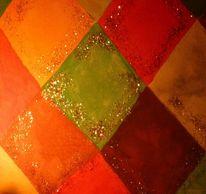 Aquarellmalerei, Herbst, Warme töne, Aquarell