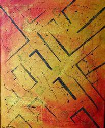 Gelb, Gold, Malerei, Acrylmalerei