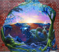 Graffiti, Airbrush, Fantasie, Mischtechnik