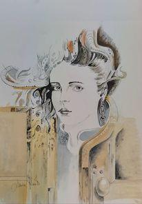 Portrait, Malerei, Ölmalerei, Madame